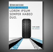 Design de cartaz de pneu