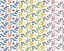 Färgglada lövmönster