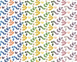 Colorful Leaves Pattern vector