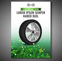 Design de folheto realista roda