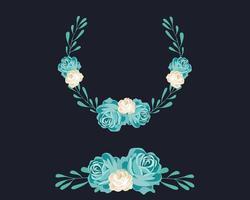Ghirlanda floreale blu