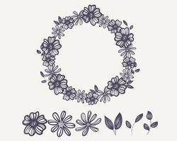 Wreath Outline Flower