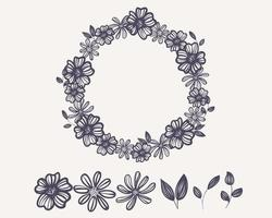 Wreath Outline Flower