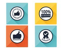 Conjunto de iconos de garantía vector