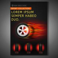 Design de cartaz de corrida de loja de pneu