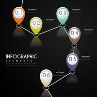diseño infográfico de simplicidad con 6 pasos