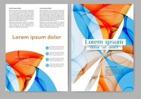 Abstract gekleurde brochure