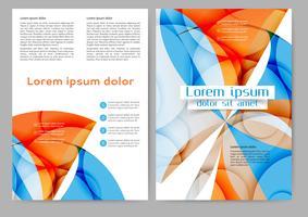 Brochura colorida abstrata