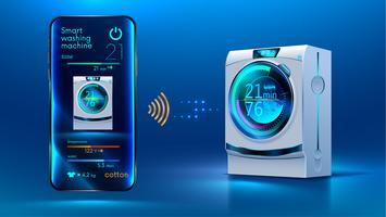 máquina de lavar roupa inteligente