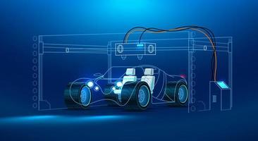 Impression 3D d'une voiture
