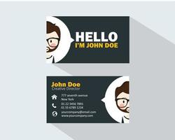 Business Card Creative Character
