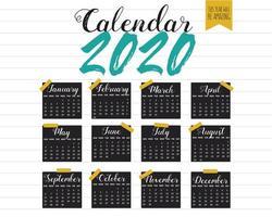 Diseño del calendario 2020