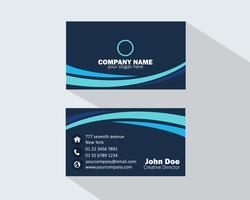 Carte de visite bleue
