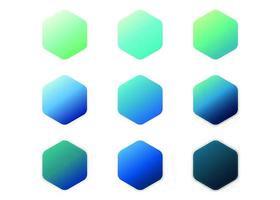Blaue Steigungs-Sammlung