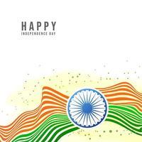 Fondo creativo di festa dell'indipendenza indiana con la ruota di Ashoka