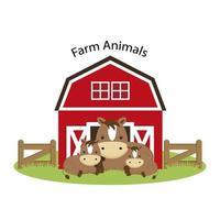 Animais de fazenda felizes.
