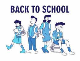 Zurück zu Schulvektorillustration