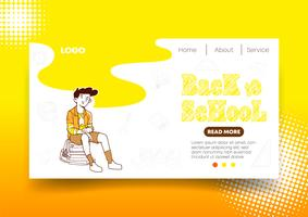 Yellow Back to School web design and Landing Page