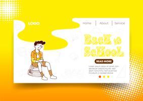 Web design giallo e pagina di destinazione