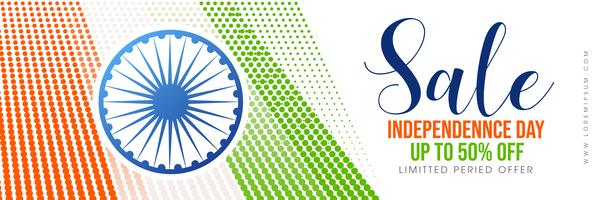 Creative  sale poster for celebration of Indian Independence Day
