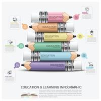 Education And Learning Infographic Subject Of Pencil Step Diagram