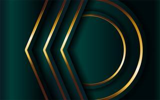 Fondo verde oscuro de lujo con capa superpuesta