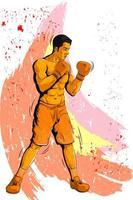 Concepto de deportista jugando boxeo