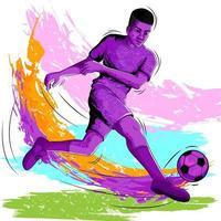 Conceito de esportista jogando futebol