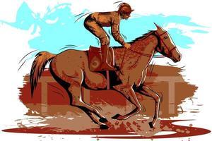 Concept van sportman Paardensport doen