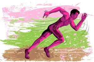 Concept of Athlete sportsman running