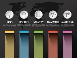 Timeline infographic avec des icônes vectorielles