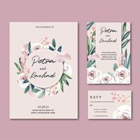 Collection d'invitations de mariage de jardin floral