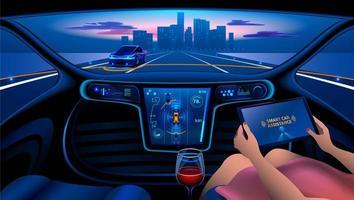 interior do carro inteligente