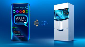 Smart fridge iot controlled via a wireless connection