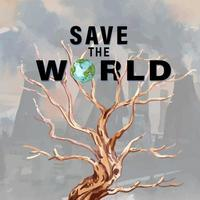 Save The World Global Warming Social Media-advertentie