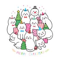Christmas, cats and gifts and Christmas tree