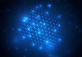 Particules et cercles lumineux abstraits