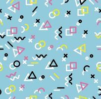 Hipster geometrisk memphis-stil samelessmönster