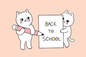 papel de escribir gato de regreso a la escuela