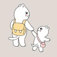regreso a la escuela madre y gato van a la escuela
