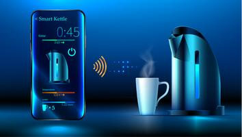 smart kettle iot controlled by phone