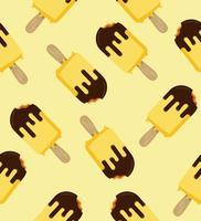 patrón de helado de palo mordido vector