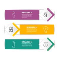 Business Infographic design with 3 steps