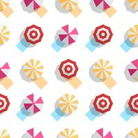 Pattern design for summer season with beach umbrellas. Top view.