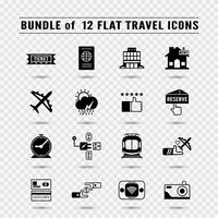 Bundle of icons in concept of travel