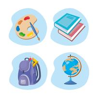 Set of school objects