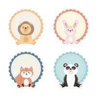 Set di etichette animali bambino