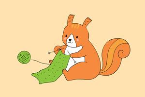 squirrel knitting