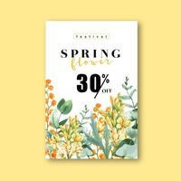 Spring Fresh Flower Sale Poster