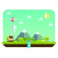 Paesaggio con cielo, aereo e montagne